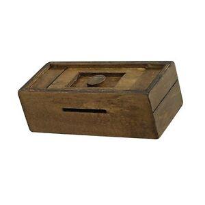 Details About Bits And Pieces Stash Your Cash Secret Puzzle Box Brainteaser Wooden Secr