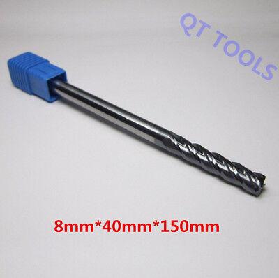 1PCS 10mm HRC50 4 flute  Extra Long Length 150mm Carbide End Mill Milling cutter