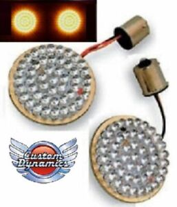 2-034-BULLET-Style-Turn-Signal-Amber-LED-Inserts-for-Harley-Davidson-GEN-200-A-1156