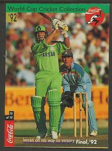 Image Is Loading INDIA 1996 COCA COLA CRICKET WORLD CUP Set