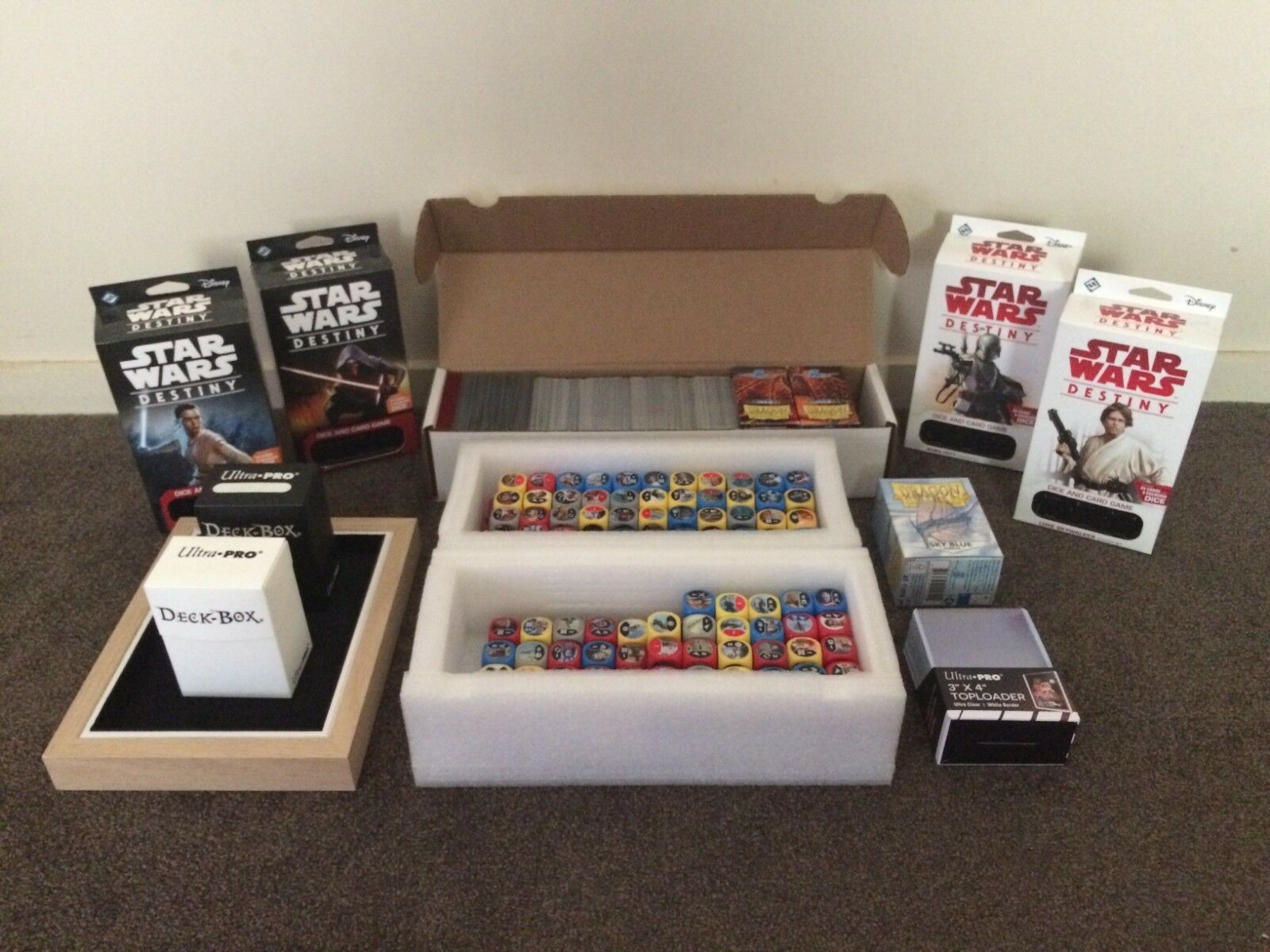 Star Wars Destiny Collection - Three Booster Boxes Worth and More