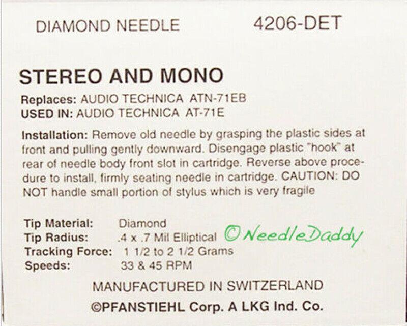 NEEDLE STYLUS for TECHNICS EPS74ED TECHNICS EPS-74STED TECHNICS EPS-74STGED