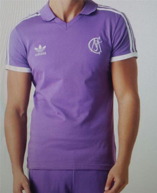 57549c3b7 Adidas mens real madrid away football shirt top jersey purple new az1219  xsl-xxl
