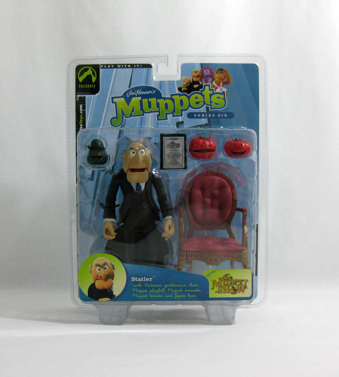 Nuevo 2003 el Muppets ✧ Statler ✧ Palisades serie 6 figura MOC