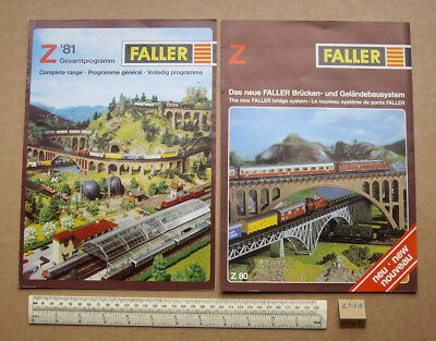 1980/81 Vintage Faller Germany Z Gauge Catalogues X 2. Very Fine (r147)
