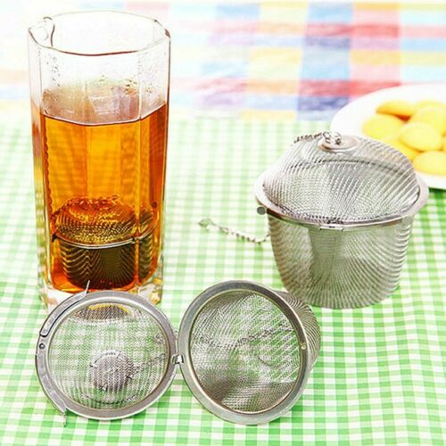 Neu Tea-Infuser Teesieb Griff Filter Diffusor Edelstahl Tee-Kugel-Netz Werkzeug