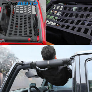 Heavy Duty Cargo Net Cover For Jeep Wrangle Multifunctional Top Roof Storage Bed