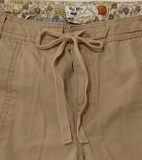 OLD NAVY Size 12 Convertible Capri  Pants Khaki tie waist cotton summer outdoor
