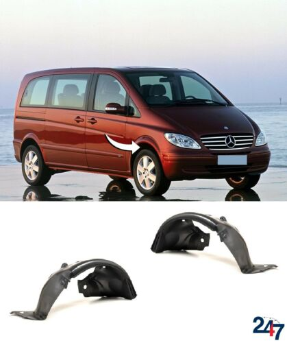 NEW MERCEDES BENZ VITO W639 03-10 FRONT INNER WHEEL ARCH COVER SET LEFT+RIGHT
