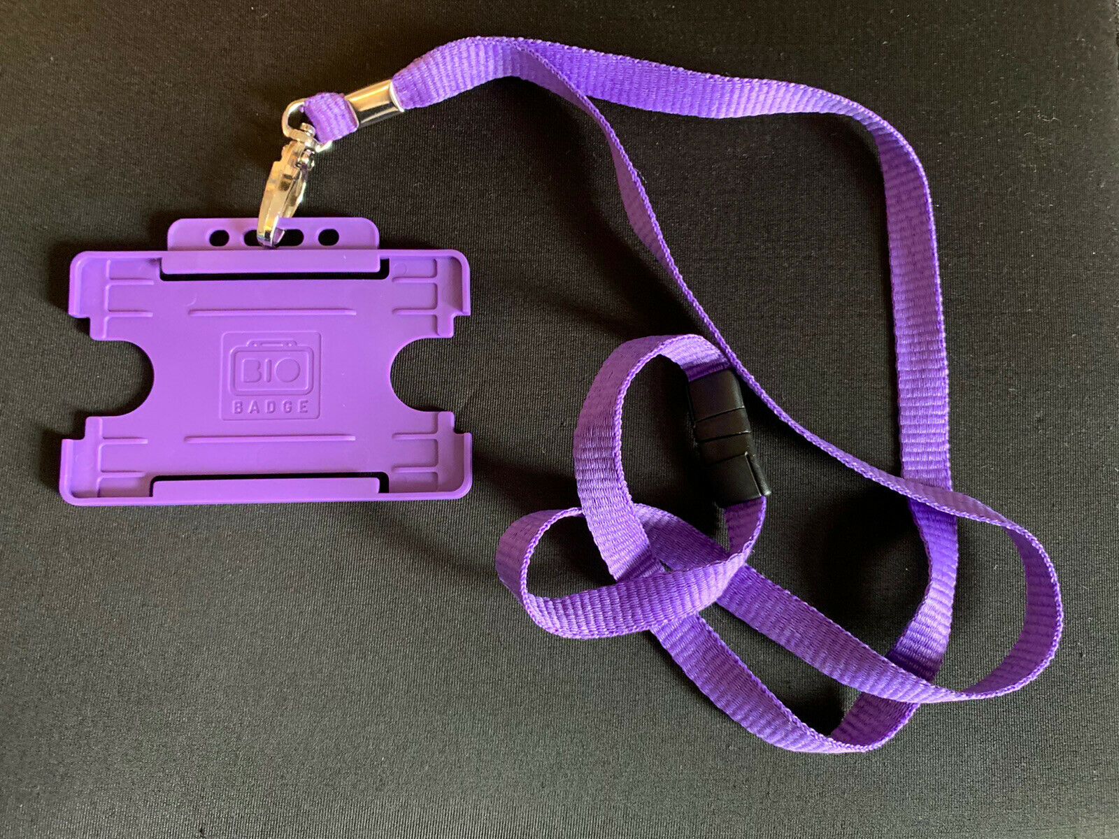 1 x Purple ID Card Holder With Purple Lanyard
