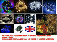 100/200/300/400 LED Fairy Lights Indoor/Outdoor String Lighting Xmas Christmas