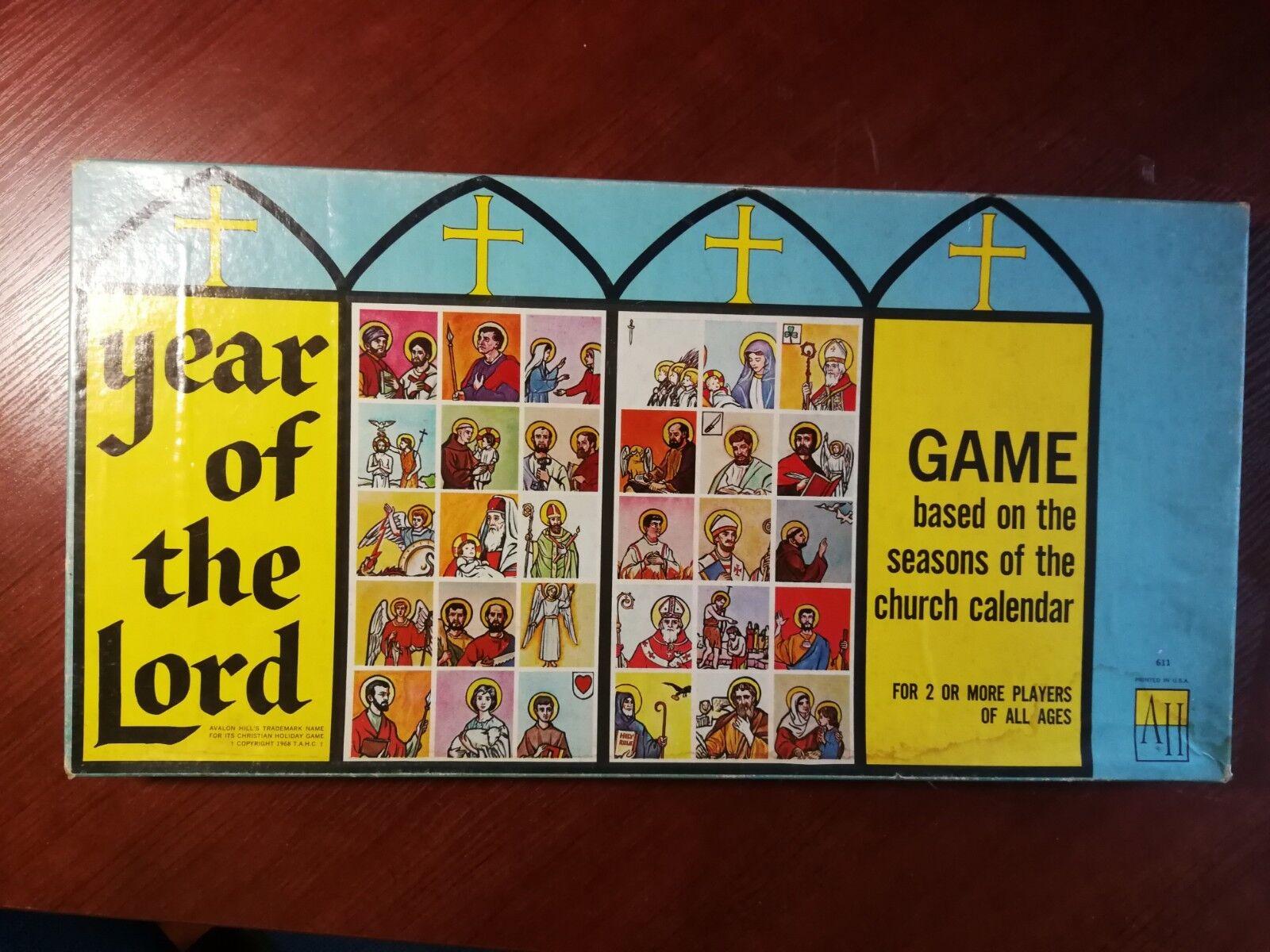 Année du Seigneur-vintage, rare old, antique, Collection, Religieux Board Game