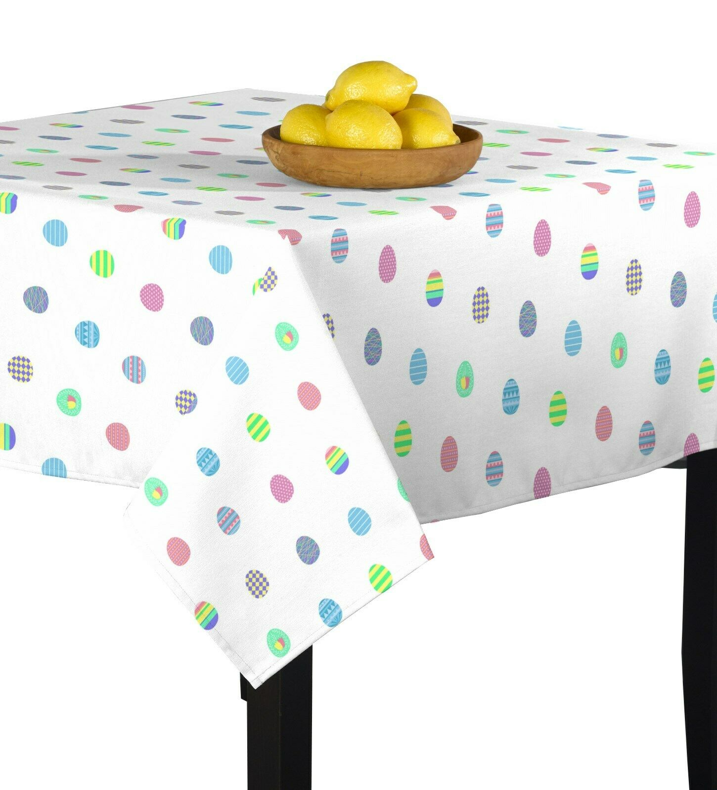 Easter Egg Toss Multi Signature Square Tablecloth Assorted Größes