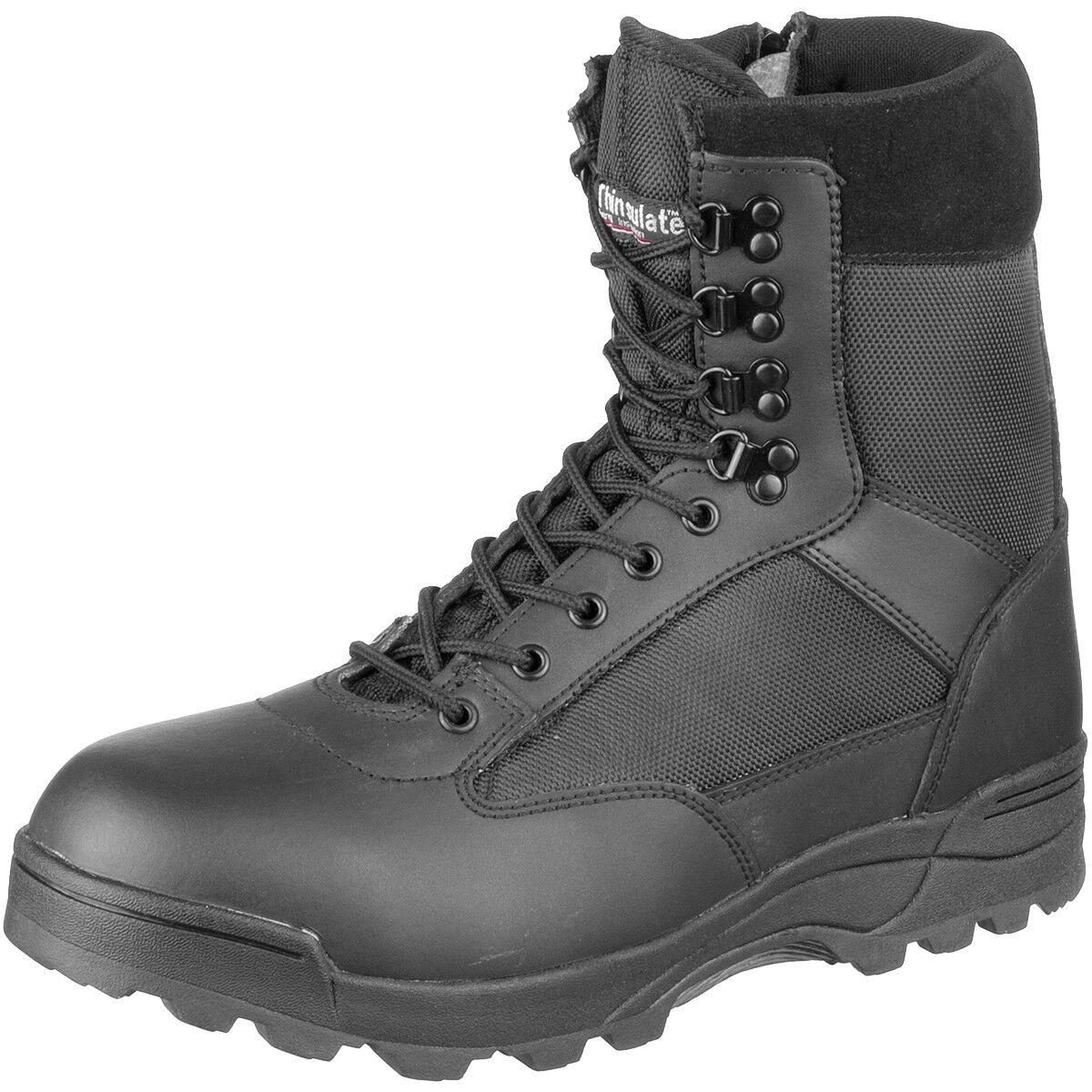 Brandit Taktische Militär Bekämpfen Side Zip Stiefel Polizei Leder Schuhe Schwar