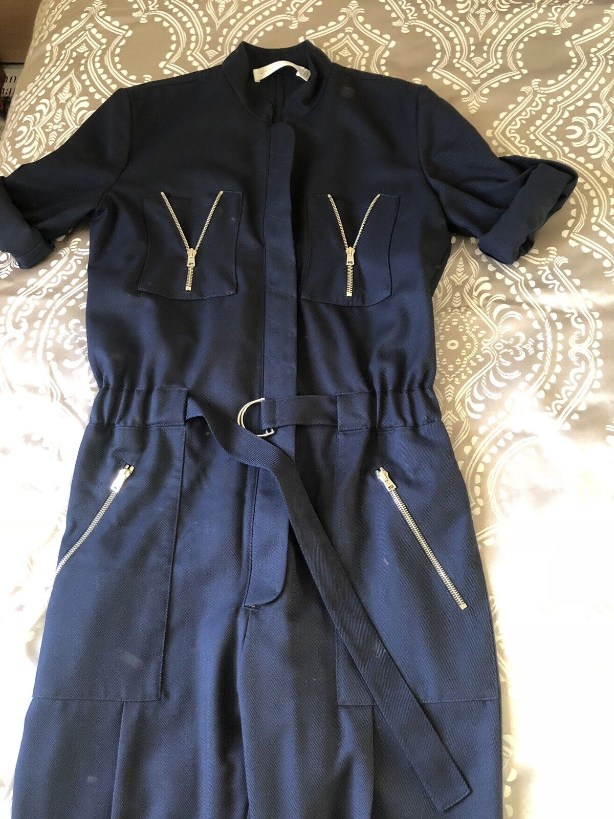 Victoria Beckham Blu Navy Tuta Uk8