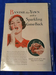 1933-Original-Coca-Cola-Magazine-ad-Sparkling-Come-Back-6-3-4-034-x10-034