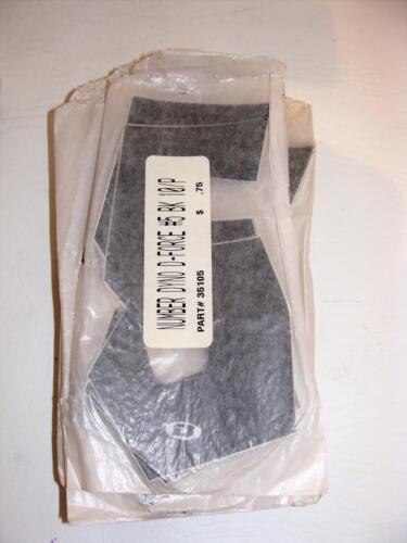 ~ Old School DYNO D-Force BMX Noir Plaque d/'Immatriculation Chiffres 10 Pack 4 8 ~ 6 5