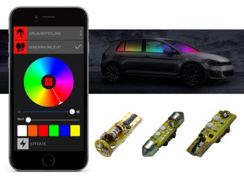 BEPHOS® RGB LED Interior Lighting Set Kit Ford Fiesta VI APP Control