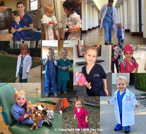 Kids Scientist Lab Coat with Scientist Embroidery Design