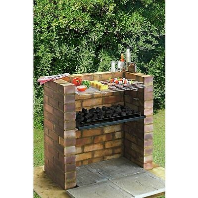Large DIY Brick Charcoal BBQ Barbecue Stainless Steel Cooking Grill & Tray Kit