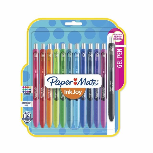 12 Count Paper Mate InkJoy Gel Pens Medium Point Assorted Colors