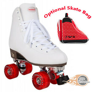 6dc44aa5aad Rookie Classic II Quad Roller Skates White Women's Girl's - Optional ...