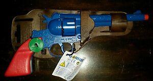 NEW GONHER Blue Embossed Cap Pistol Gun! Toy Spain Western