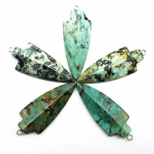 5Pcs Afrique Turquoise Flèche Pendentif Perles 47x18x7mm LL6255