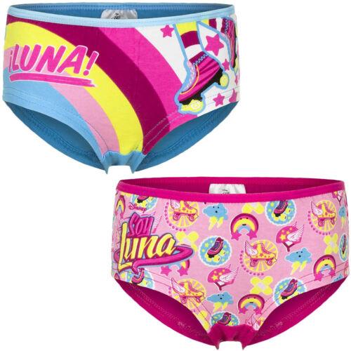 NUOVO Biancheria Intima Ragazza Soy Luna Boxershorts SLIP TG 92-98 104-110 116-128 #305