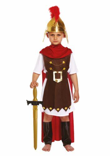 CHILD ROMAN GENERAL SPARTA SOLDIER BOY FANCY DRESS OUTFIT COSTUME BOOK WEEK 4-12