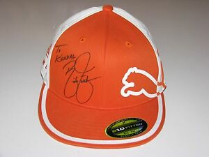 pretty nice 285c2 18c0c Image is loading Rickie-Fowler-Autographed-Puma-Golf-Hat-Cap-sz-