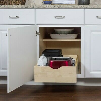 Real Wood Roll Out Drawer For 15 Inch Base Cabinet Kitchen Pull Out Tray 843512056215 Ebay