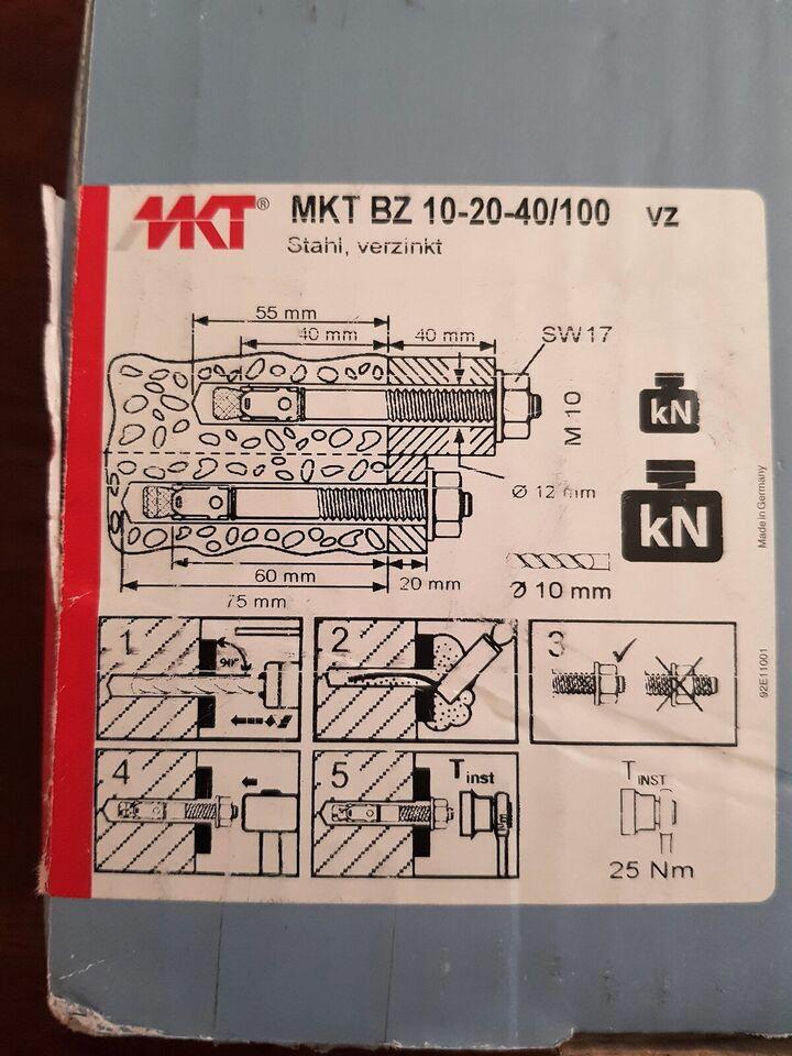 5 kasser MKT BZ 20/40 ekspansionsankere