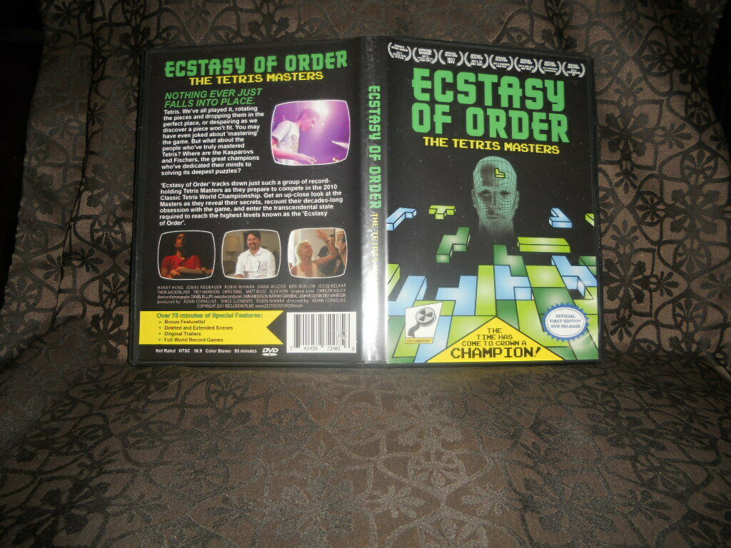 Ecstasy Of Order The Tetris Masters Dvd 2012 For Sale Online