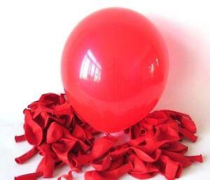 Red-Metallic-12-034-Latex-Balloons-Birthday-Wedding-Anniversary