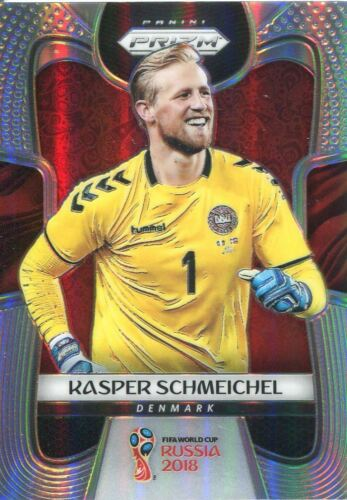 PRIZM WORLD CUP 2018 Silver parallèle Base Carte #258 Kasper SCHMEICHEL-Danemark