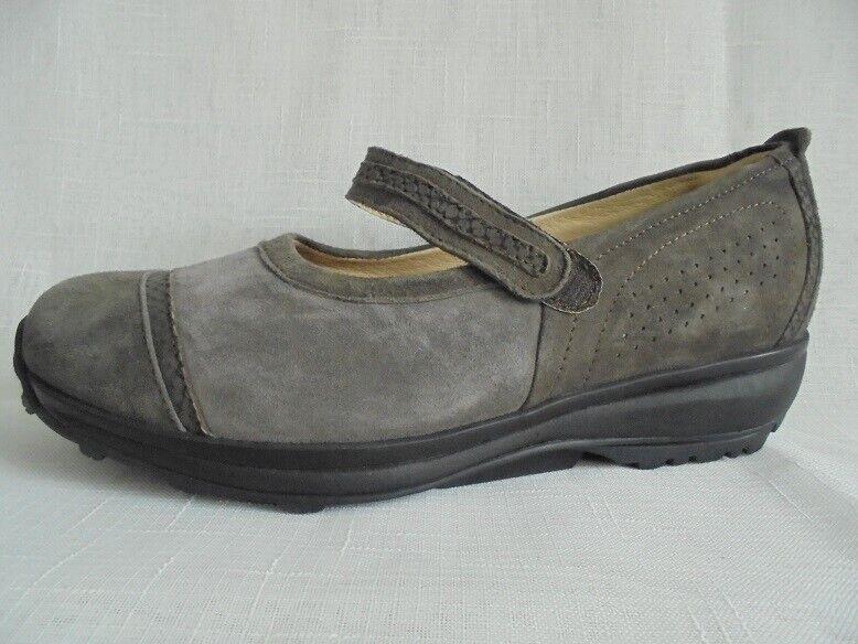 TG. 41 7,5 Sautope da Donna Sautope Mocassini Velcro Slipper Taupe Pelle xsensible