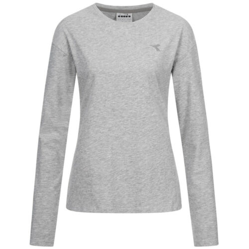 Diadora JS Damen Freizeit Baumwolle Langarm Shirt 102.173588 schwarz rot grau
