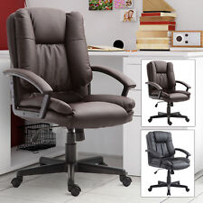 Modern Executive Office Chair Racing Swivel Height Adjustable PU Leather Rolling