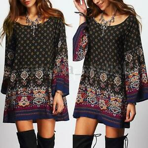 AU-8-24-Women-Summer-Floral-Printed-Ethnic-Loose-Long-Tops-Mini-Shirt-Sun-Dress