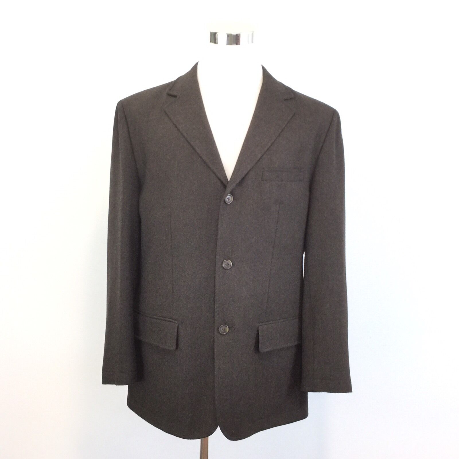 Daniel Cremieux Mens Wool Sport Coat Blazer 3 Button Herringbone Double Vent L