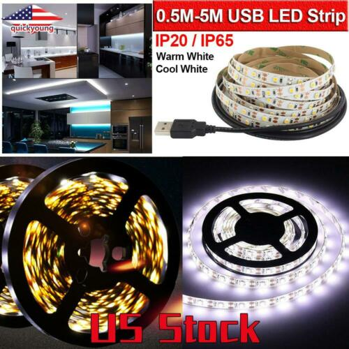 1-4Pack LED Strip Waterproof DC5V USB TV Background Lighting Decor Home Light US