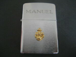 Cigarette Lighter Zippo U. S. N. Year Boardshort 1990. L - - Vi. Engraved Manuel