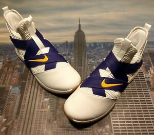 cheap for discount 8268c d54ae Details about Nike iD LeBron Soldier XII 12 Los Angeles Lakers White Size  14 AR6333 991 New