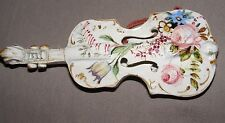 ANTIQUE FRENCH ITALIAN FAIENCE FAENZA TIN GLAZE POTTERY VIOLIN CELLO WALL POCKET