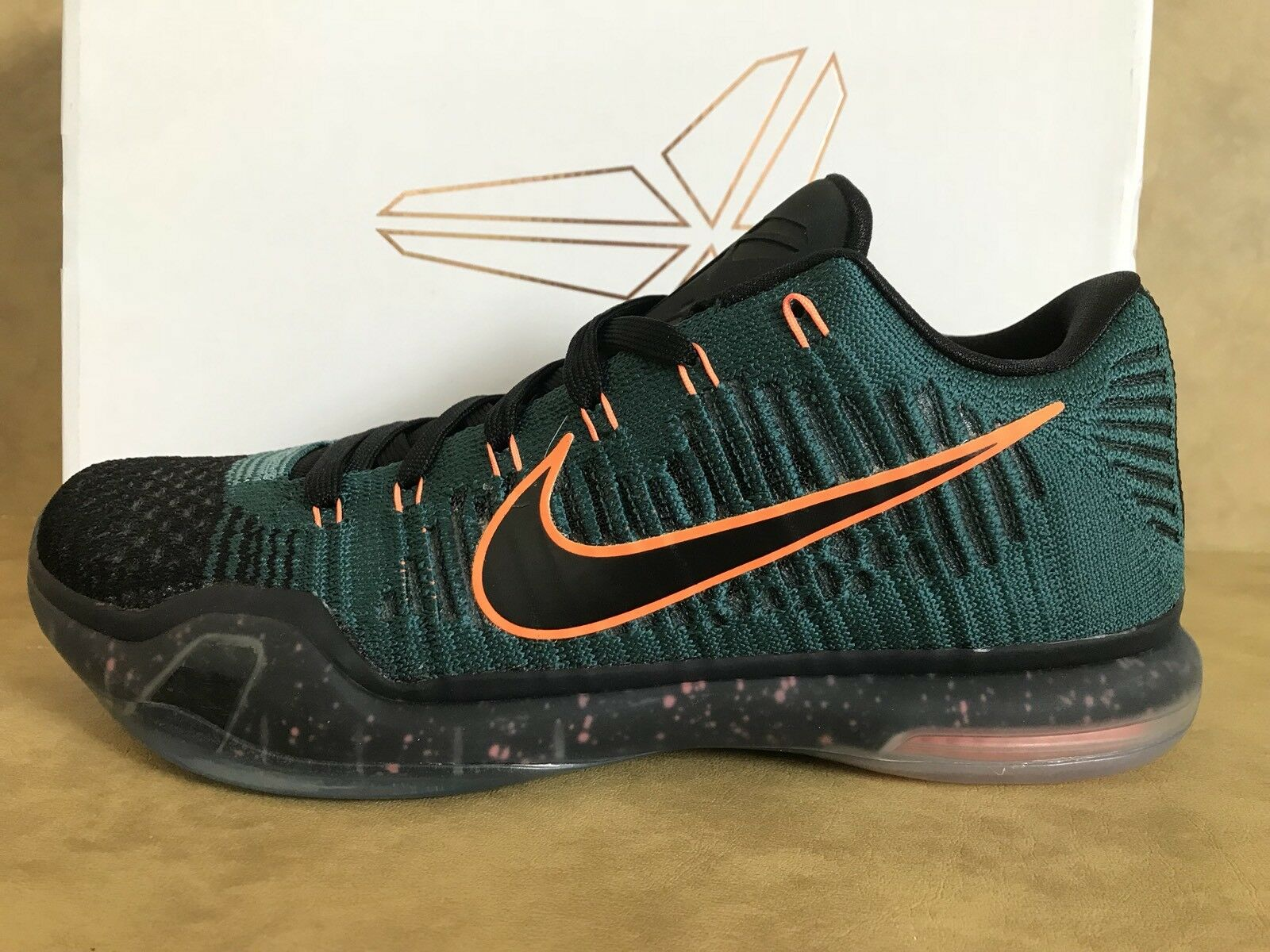 NIKE KOBE X 10 ELITE LOW FLYKNIT DRILL SERGEANT ATOM TEAL 747212 303 SZ 8.5 NEW