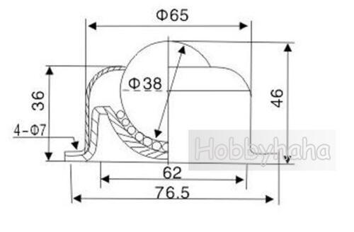 "New 1pcs Dia 1-1//2 /""F CY-38A  Metal Ball Transfer Unit Conveyor Roller Bearing"