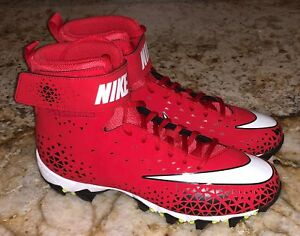 e0274d5f722a NIKE Force Savage Shark TD Molded Red White Black Football Cleats ...