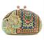 de ~ hecho nupcial de mano cristal elefante noche de Multicolor embrague Patrón bolso a ~ de EzqaSa