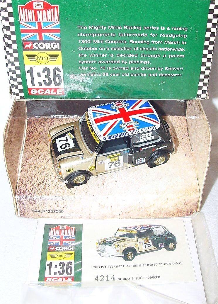 Corgi Toys 1 36 MORRIS MINI COOPER  JENNER  MINI MANIA Model Car 04437 MIB`00
